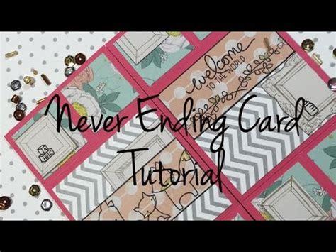 carding tutorial german diy never ending card tutorial deutsch