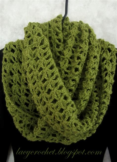 Free Crochet Patterns For Infinity Scarves Lacy Crochet Other Free Crochet Patterns