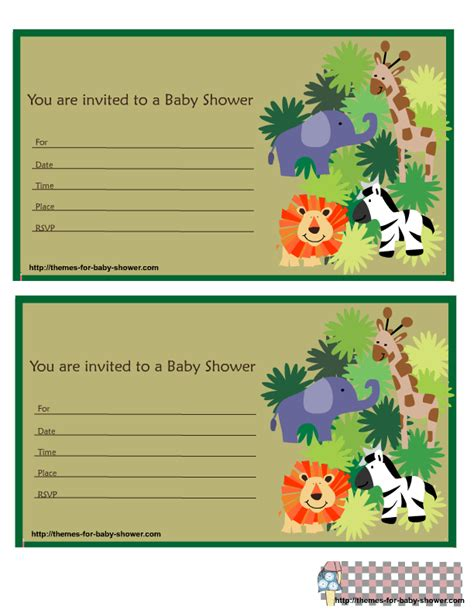6 Free Printable Safari Baby Shower Invitations Free Printable Safari Baby Shower Invitation Templates
