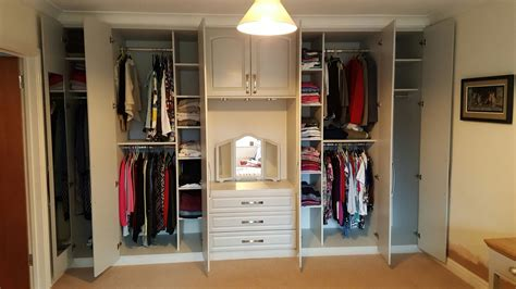 built in wardrobe with dressing table and drawers