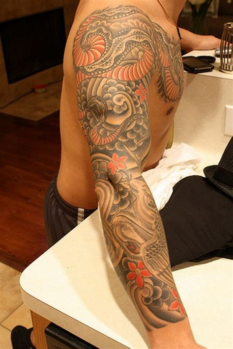 dragon sleeve tattoo for men