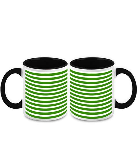 designer mugs homesogood black ceramic fine print designer mug 2 mugs