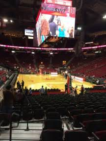 at section 101 toyota center section 101 row 10 seat 12 houston