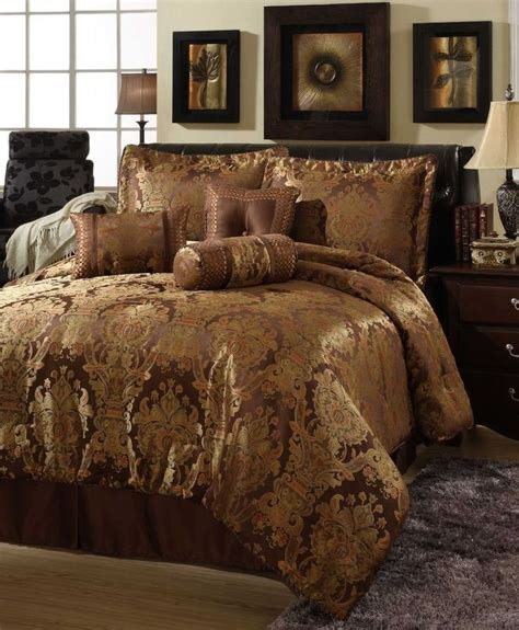 7 Beautiful Bedding Sets From Outfitters by Beautiful Rich 7 Pc Brown Gold Comforter Set