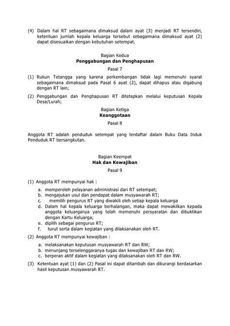 format buku data warga masyarakat peraturan bupati bekasi no 16 tahun 2010 tentang pedoman