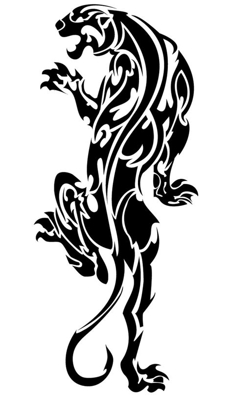 black panther tribal tattoo designs black tribal panther stencil by blue fapranger
