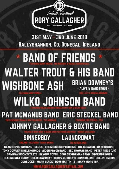 The Great Festival 29th May 3rd June by Rory Gallagher International Festival 2018 Ballyshannon