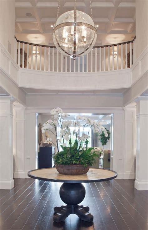 circular entryway round foyer table transitional entrance foyer brooke wagner design