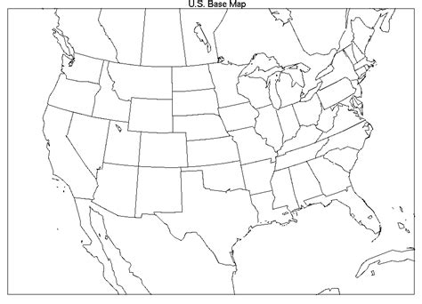 blank us weather map printable blank us and canada map