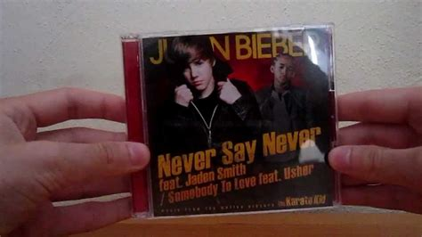 justin bieber never say never unboxing justin bieber never say never somebody to love cd dvd