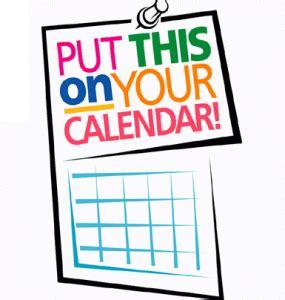 my creative scrapbook: mark your calendar!