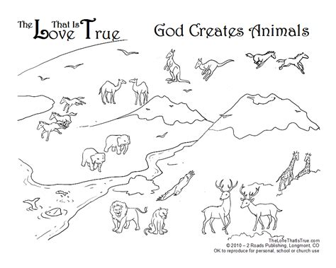 god made the animals coloring page az coloring pages
