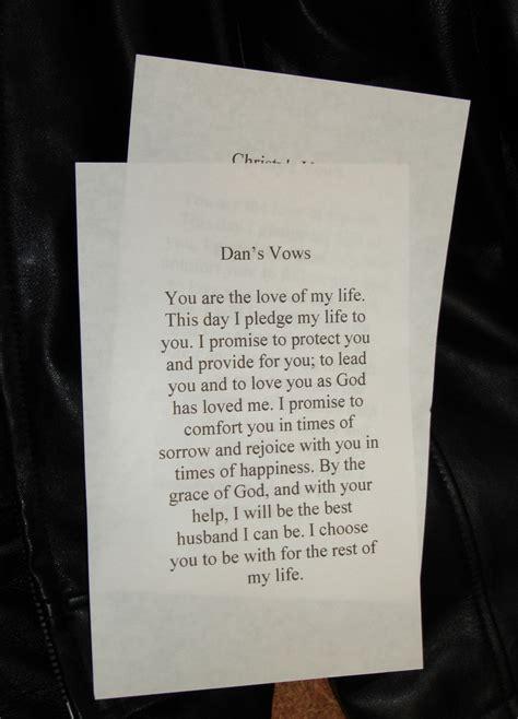 romantic wedding vows