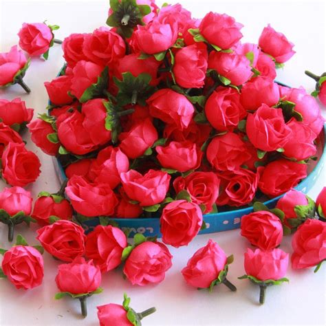 Silk Flower roses artificial silk flower heads wholesale lots