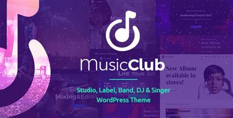 theme music club music club band or studio wordpress theme download