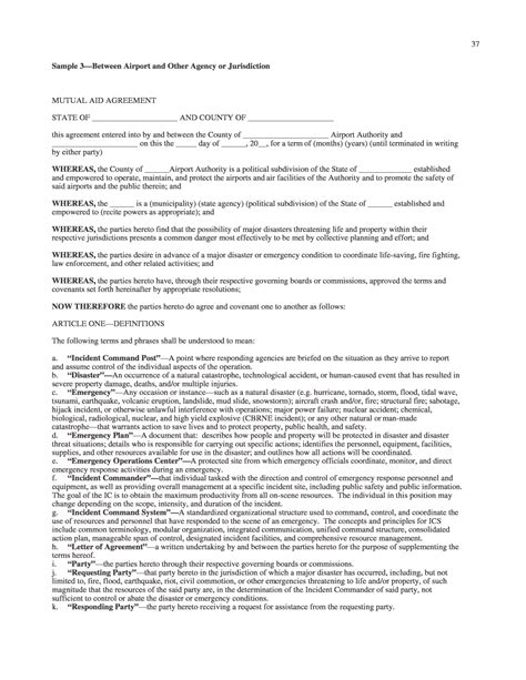 aid agreement template agreement contract sle request for sponsorship