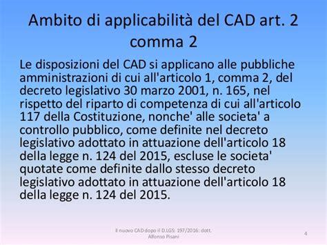 decreto legislativo n 165 del 2001 normattiva il nuovo cad dopo il d lgs 179 2016