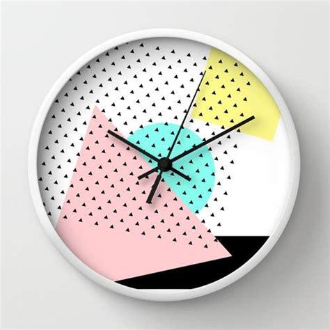 Modern Wall Design by Reloj De Pared Quot Arty Quot Wall Clock Memphis Milano Wall