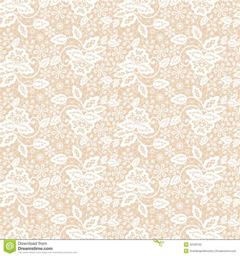pattern background beige lace pattern stock vector illustration of fabric