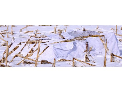layout blind with free snow cover banded 2 man layout blind snow cover 600d fabric mpn 8624