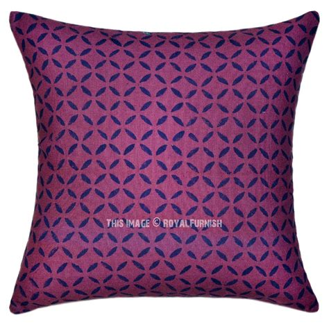 Canvas Pillow Cover by Purple Geometric Modern Canvas Throw Pillow Cover Royalfurnish