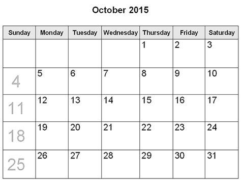free october calendar template free printable calendar free printable calendar october