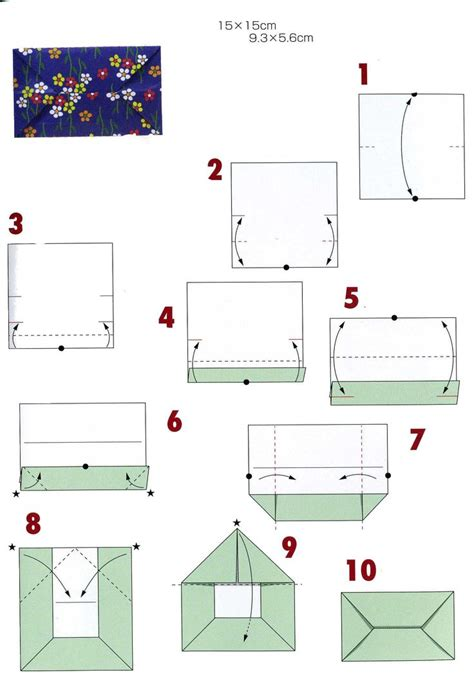Origami Envelope Diagram - 25 best ideas about origami envelope on