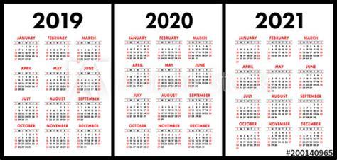 pocket calendar    set basic simple template week starts  sunday buy