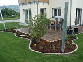 blumenbeet terrasse bauen mit den brachats letzte arbeiten am blumenbeet