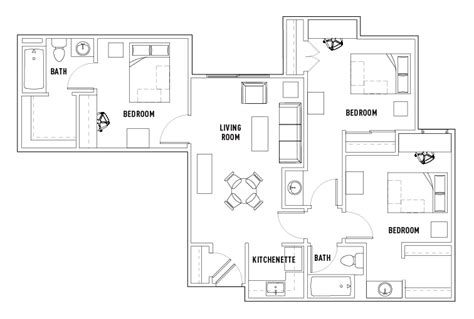 shared bathroom floor plans 3 bed 2 bath shared bath the callaway house college