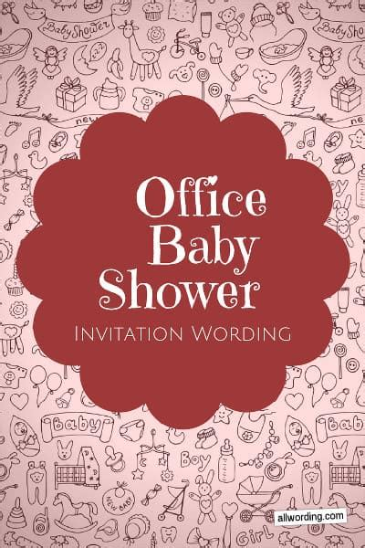 Office Baby Showers by Office Baby Shower Invitation Wording 187 Allwording
