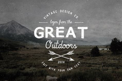 photoshop templates for typography logos from the great outdoors logo templates on creative