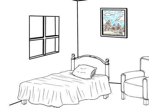 imagenes para pintar una recamara dibujos colorear habitaciones casa ideas creativas sobre