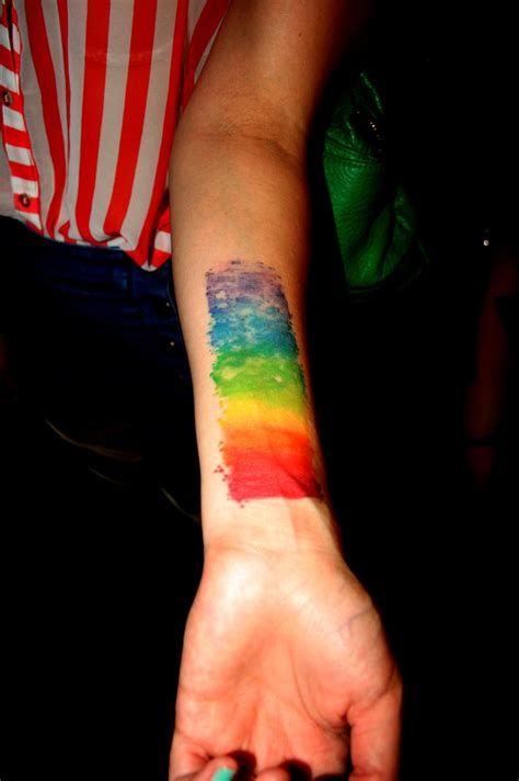 rainbow tattoos rainbow watercolor swatch work work work