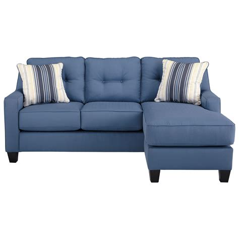 Benchcraft Aldie Nuvella Queen Sofa Chaise Sleeper In Sleeper Sofa With Chaise Lounge