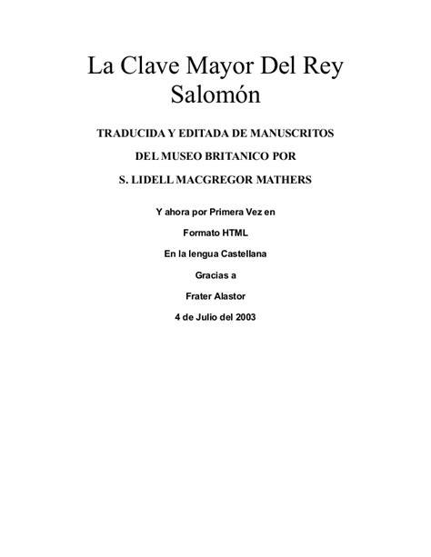 oraciones del sabio salomon clave de salomon