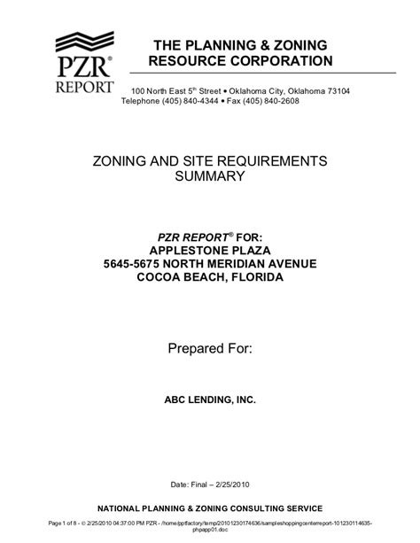 Request Letter For Zoning Certificate Sle Shopping Center Zoning Report