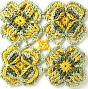 Cp Motif 1 blossoming daffodil crochet motif