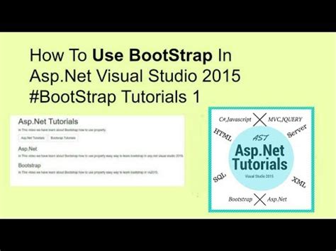 tutorial bootstrap asp net how to use bootstrap in asp net visual studio 2015