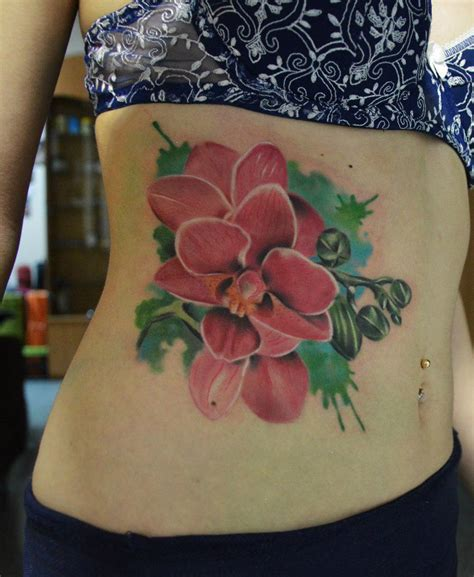 belly bright flowers tattoo best tattoo ideas gallery