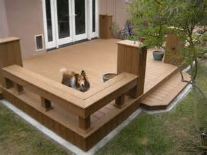 trex deck built for murphy the to safely exit his