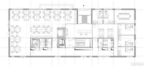 office building layout 标准办公楼平面图 土巴兔装修效果图