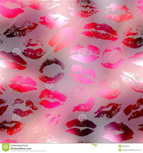 background pattern blur kisses pattern on red blur background stock vector image