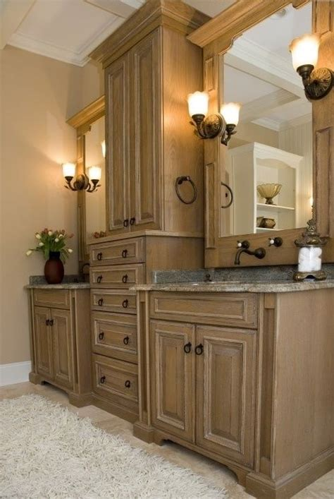 bathroom cabinets  everyonemocca brown wood bathroom