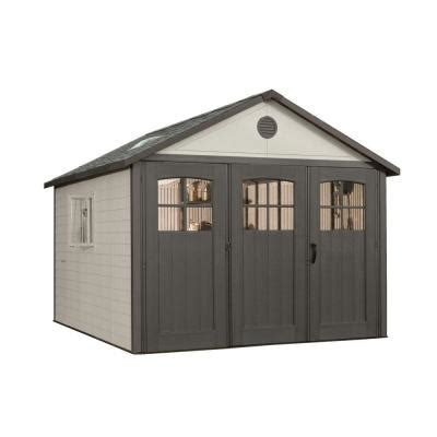 Shed Locks Home Depot by Lifetime 11 Ft X 21 Ft Storage Building With 9 Ft Wide Carriage Door 60026 The Home Depot
