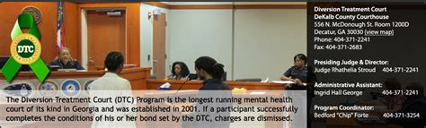 Dekalb County Ga Civil Search Mental Health Diagnosis The Diversion Treatment Court Magistrate Court Of Dekalb