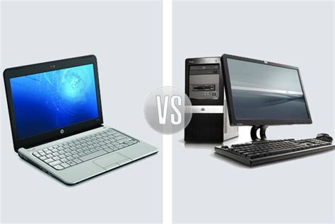 computer hardware desktop pc vs laptop