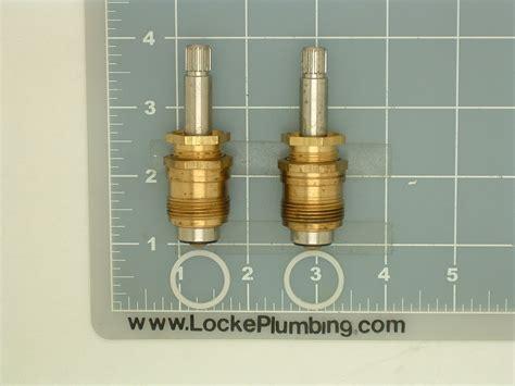 eljer bathtub faucet parts eljer 490 8143 01lh 02rh stems per pair locke plumbing
