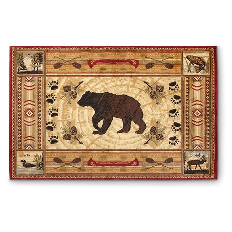 cabin rug lodge rug 607474 rugs at sportsman s guide
