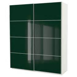 Ikea Green Wardrobe pax wardrobe white hokksund high gloss green